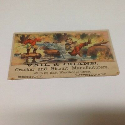 Trade Card Vail And Crane Cracker And Biscuit Manufactures Michigan Victorian
