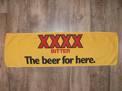 "XXXX BITTER Towelling Bar Runner ""THE BEER FOR HERE"" Fourex Bar Towel MANCAVE GC"