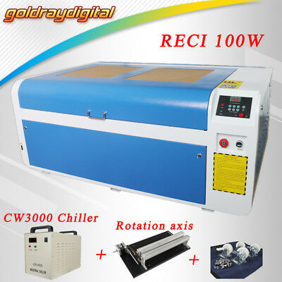 New 100w Laser Engraver Engraving Machine Cutting Cutter 1000*600mm US/EU Ship