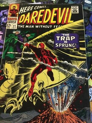 DareDevil # 21 (Oct 1966, Marvel) The Trap Is Sprung! Vintage Great