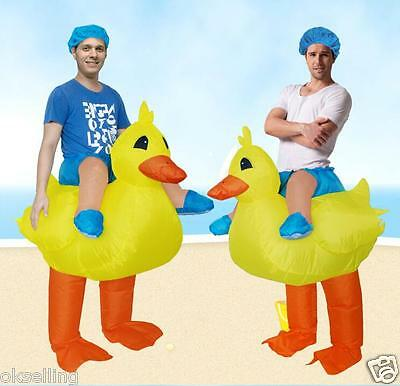 halloween Yellow Duck Inflatable Adult size Costume Party Fancy Dress Jumpsuits