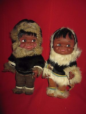 Two Large Vintage Rubber Googly Eye Doll's made by REGAL