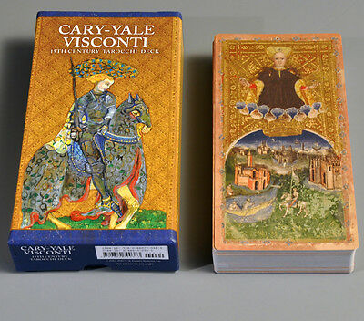 CARY YALE VISCONTI NEW PRINTING! - FULL-SIZE REPLICA 15th CENT. TAROT CARD DECK