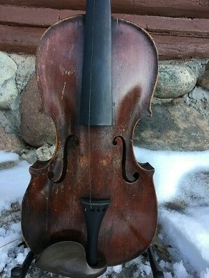 Old Violin, Probably American For Repair or Decoration