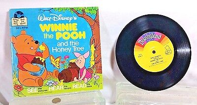 Walt Disney WINNIE THE POOH &The Honey Tree book & record 1979 33 1/3 RPM #313