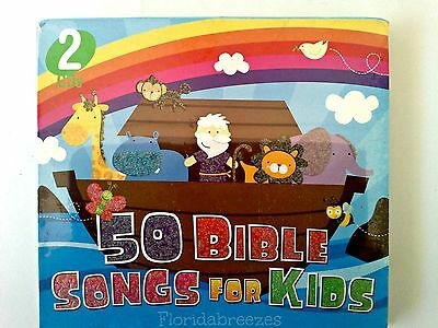 50 BIBLE SONGS FOR KIDS (2 CD Set) Pre-K Elementary Wrapped!