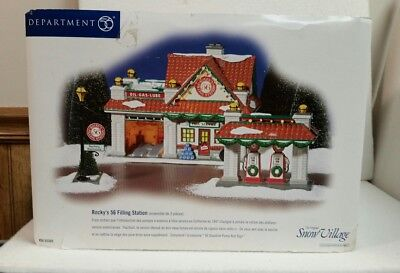 Dept 56 Snow Village Rocky's 56 Filling Station - 55305 - with in box
