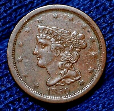 1850 Half Cent**xf**nice Brown Color