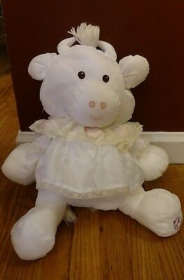 Fisher Price Puffalump White Cow with Heart Dress Vintage 1986 EUC 16""