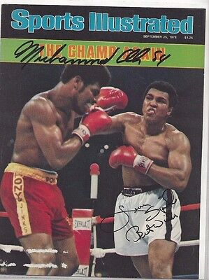 Muhammad Ali Heavyweight Boxing Champ Autographed 8x10 SI Magazine Cover Spinks