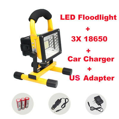 Rechargeable Portable 30W Outdoor Camping Flood Light Work Lamp Car Emergency US