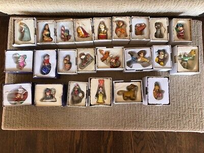 NEW in Original Boxes Vintage Disney Christmas Ornaments by Grolier - Lot of 19