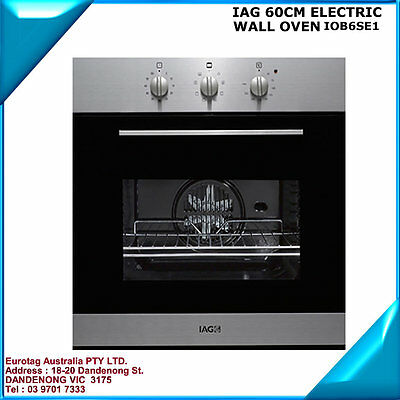 IAG 60CM Electric WALL OVEN  Oven (IOB6SE1 (box damaged only) BRAND NEW
