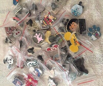 Disney Trading Pins - Lot Of 50 -  No Duplicates - Free Priority Shipping