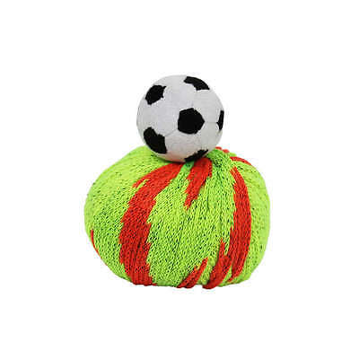 TOP THIS! SOCCER BALL YARN KIT, Knit a Hat and Top it with a Plush Soccer Ball!