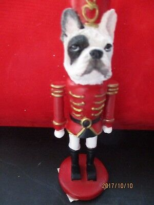 french bulldog   ~ NUTCRACKER DOG SOLDIER ORNAMENT                65