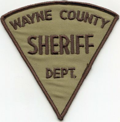old vintage WAYNE COUNTY NORTH CAROLINA NC SHERIFF POLICE PATCH