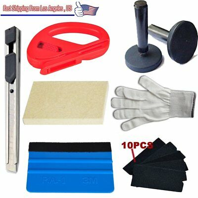 7 in1 Car Window Tint Auto Film Wrapping Tools Rubber Squeegee Vinyl Scraper SE#