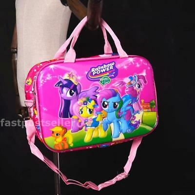 "16"" MLP PONY 3D Girls Kids Carry On Travel Hand Bag Duffle Luggage Children"
