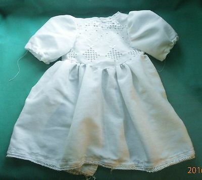 """Puppenkleid weiss 35 cm/doll dress white approx. 14"""""""