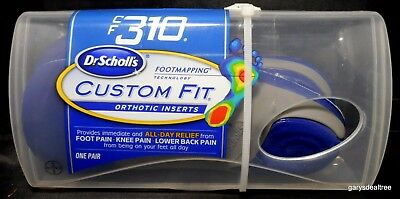 Dr. Scholl's Orthotic Inserts CF310 Foot mapping Custom Fit~CF 310 ~New~Unopened