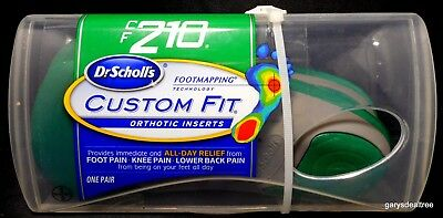 Dr Scholl's CF210 Custom Fit Orthotic Inserts Scholls CF 210 One Pair ~NEW