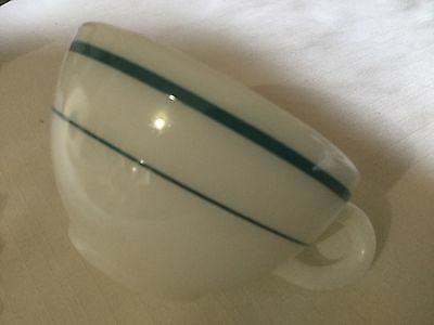 Corning Cup.   White/blue Rings. 701-4