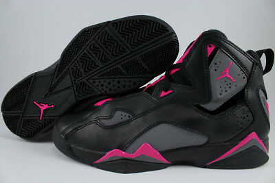 Nike Air Jordan True Flight Black/gray/pink Women Girls Retro Hi High Youth Size