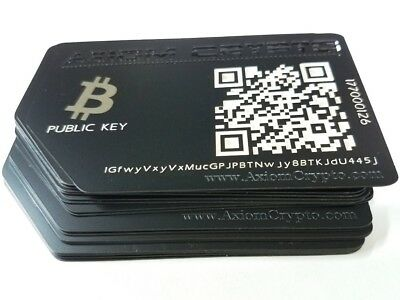 Bitcoin Offline Cold Wallet Secure Metal Card Storage Gift card AxiomCrypto BTC