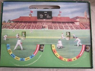 vintage John Sands TEST MATCH classic cricket BOARD GAME Box COMPLETE