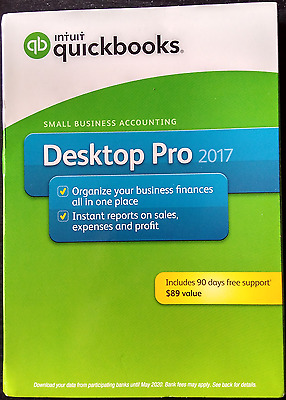 Brand New Factory Sealed Intuit QuickBooks Pro 2017 for Windows 1 User