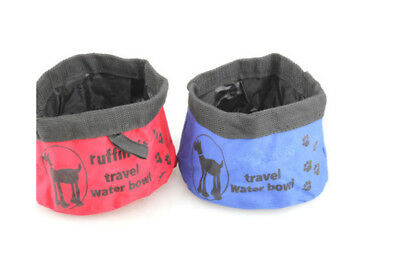 Pet Dog Cat Collapsible Foldable Travel Camping Food Water Feeder Bowl Dish