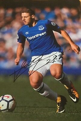 2017/18 HAND SIGNED 12x8 EVERTON PHOTOS ROONEY PICKFORD DAVIES VLASIC BAINES ETC