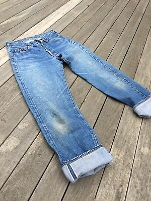 Vintage Levis Red Line Selvedge 501 Denim Jeans (27.5 X 29)