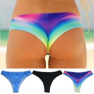 Brazilian V Cheeky Bikini Bottoms Women's Beach Swimsuit Thong G-String Swimwear