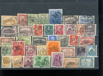 Hungary 37 pc perfin collection