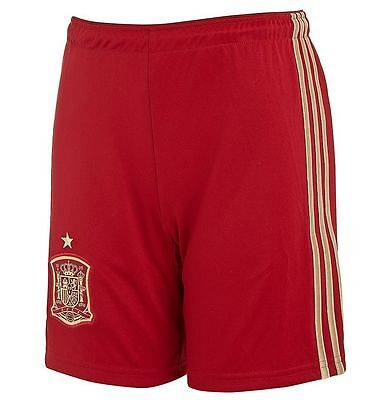 adidas Spain 2014 Junior Home Shorts Size Large Boys 11 - 12 Years ( 152 )