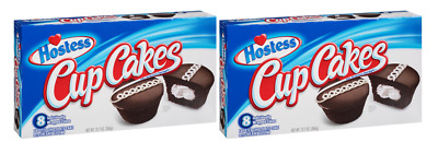 903360 2 x 360g BOXES OF HOSTESS FAMOUS CREAM FILLED CHOCOLATE CUPCAKES! USA