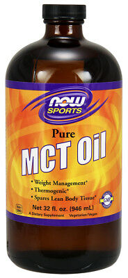 Now Foods MCT Oil, Pure 32oz 946ml, Vegan, Medium Chain Triglycerides