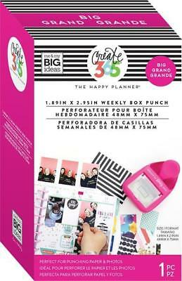 Create 365 Happy Planner BIG Weekly Box Punch 48mm x 75mm Rectangular Punch