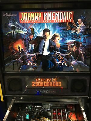Johnny Mnemonic Pinball Machine By Williams With LED's