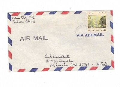 PITCAIRN ISLAND 35c Commercial Cover to USA from ADAM CHRISTIAN