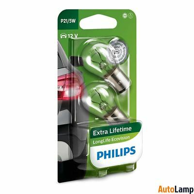 PHILIPS P21/5W LongLife Ecovision Indicator 12V 21/5W BAY15d 12499LLECOB2 Twin