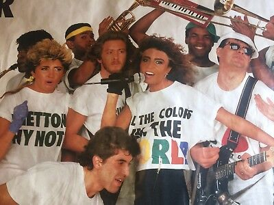 Loredana Berte Poster Bandaberte Tour United Colors Of Benetton Oliviero Toscani