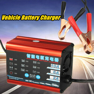 220V Smart Automatic Car Vehicle PowerBank Battery Charger Desulfator Maintainer