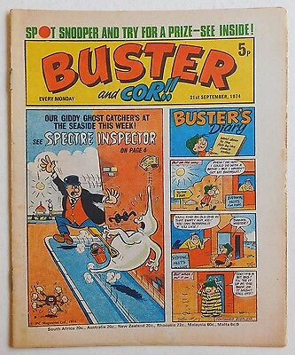 BUSTER and COR Comic - 21st September 1974