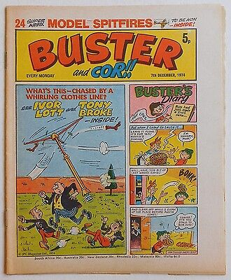 BUSTER and COR Comic - 7th December 1974
