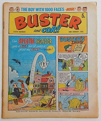 BUSTER and COR Comic - 18th January 1975