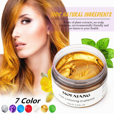 UK Temporary Hair 7 Color Gel Wax Mud Washable 120g