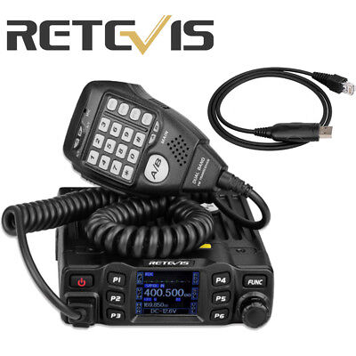 Hot Retevis RT95 Dual Band 200CH 25W TFT LCD Display Mobile Car Radio+Cable